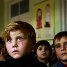 GEORGIA. 2008. Pankisi Gorge. A Chechen Refugee Settlement.